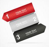 Vektör renkli metin kutusu 1,2,3 kavramı — Stok Vektör