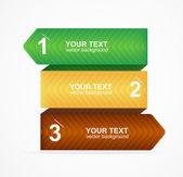 Vector colorful text box 1,2,3 concept — Stock Vector