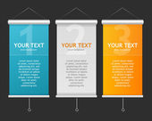 Set of Blank roll up posters — Vector de stock