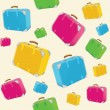 Travel suitcases background — Stock Vector