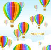 Vector air ballons background — Stock Vector