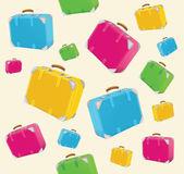 旅行箱包背景 — 图库矢量图片