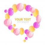 Dovolená rám s barevnými balónky — Stock vektor #35265567