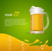 Beer mug background for text — Stock Vector