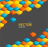 Abstrait géométrique et texte — Vecteur
