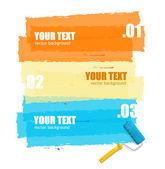 Vector roller brush background for text — Cтоковый вектор
