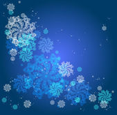 Abstract Christmas background with snowflakes — Stock Vector