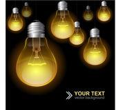 Light bulb seamless pattern — Stockvector