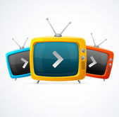 Tv vector set — Stock Vector
