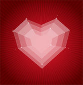 Herzen flach Valentinstag Karte Vektor Hintergrund — Stockvektor