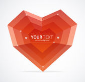Heart flat Valentines day card vector background — Stock Vector
