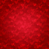 Vector background from red hearts — Stock Vector