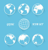 Vecrot globe icon set. Modern flat style — Stock Vector