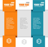 Vector text boxes, infographics options banner — Stock Vector