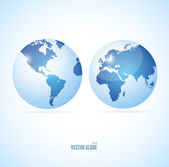 Vecrot globe set — Stock Vector