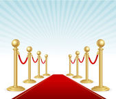 Vector red event carpet — Stock Vector