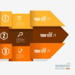 Vector text boxes, infographics options banner — Stockvektor