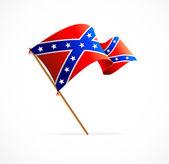 Vector flag of Confederate — Stock Vector