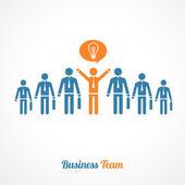 Vector human symbol teamwork. Idea concept — Stock Vector