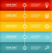 Vector Timeline Infographic. Colorful Template — Stockvektor