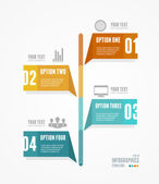Vector Timeline Infographic. Retro style. — Stock Vector