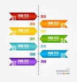 Vector Timeline Infographic. Retro style. — Stockvektor