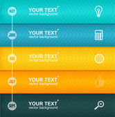 Vector Timeline Infographic. Colorful Template — Vector de stock