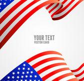 American flag border vector illustration — Stock Vector