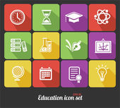 Vector education icons set — Stock Vector