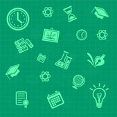 Vector education background green. Pattern — Cтоковый вектор