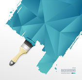 Vector paint brush and triangle background — Stok Vektör