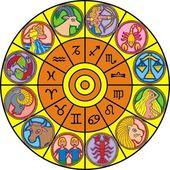 Zodiac clock — Stock Vector