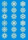 Delicate snowflakes — Stock Vector
