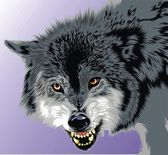 Gray wolf — Stock Vector