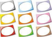 Empty frames collection — Stock Vector