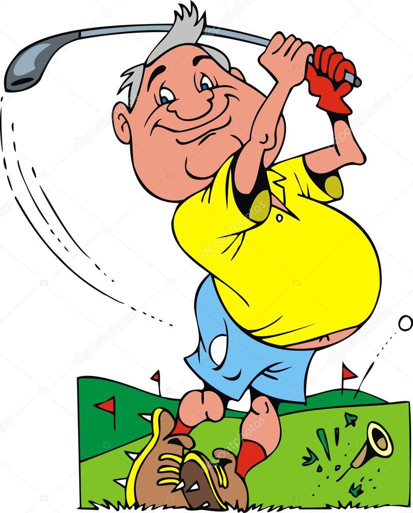 Old golfer — Stock Vector © pepeemilio2 #22606721