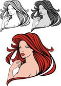 Nice red hair girl — Stock Vector