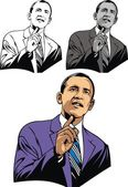 Obama caricature — Stockvector