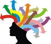 Baş ve fikirler — Stok Vektör