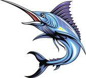 Marlin fish — Stock Vector