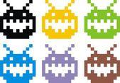 Ufo smiles — Stock Vector