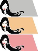 Nice girl face from my dream — Vector de stock