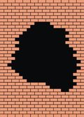 Easy brick wall — Stock Vector