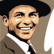 Frank Sinatra - my original caricature — Stock Vector