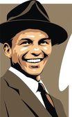 Frank Sinatra - my original caricature — Stock Vector