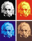 Albert Einstein - my original caricature — Stock Vector