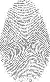 Finger print — Stock Vector