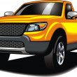 Stock Vector: My original 4x4 car (my design) in yellow color