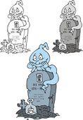 Halloween ghost — Stock Vector