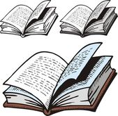 Open dictionary — Stock Vector